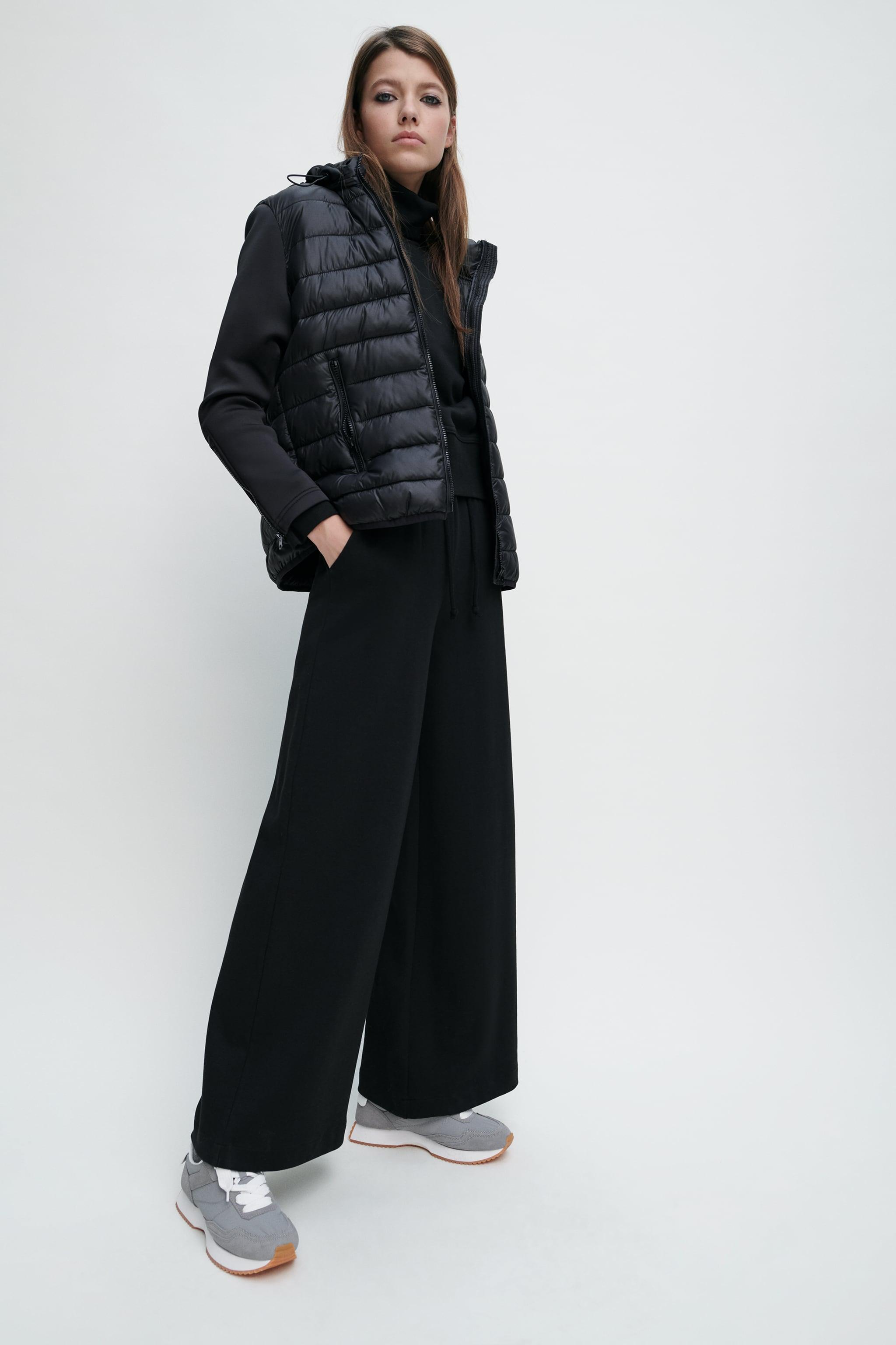 Zara PACKABLE COMBINATION PUFFER JACKET