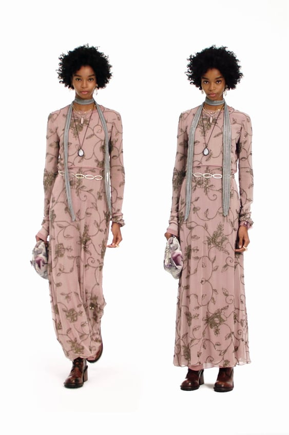 ZARA WOMAN NWT SS20 LIMITED EDITION LONG DRESS WITH APPLIQUÉS SIZE S