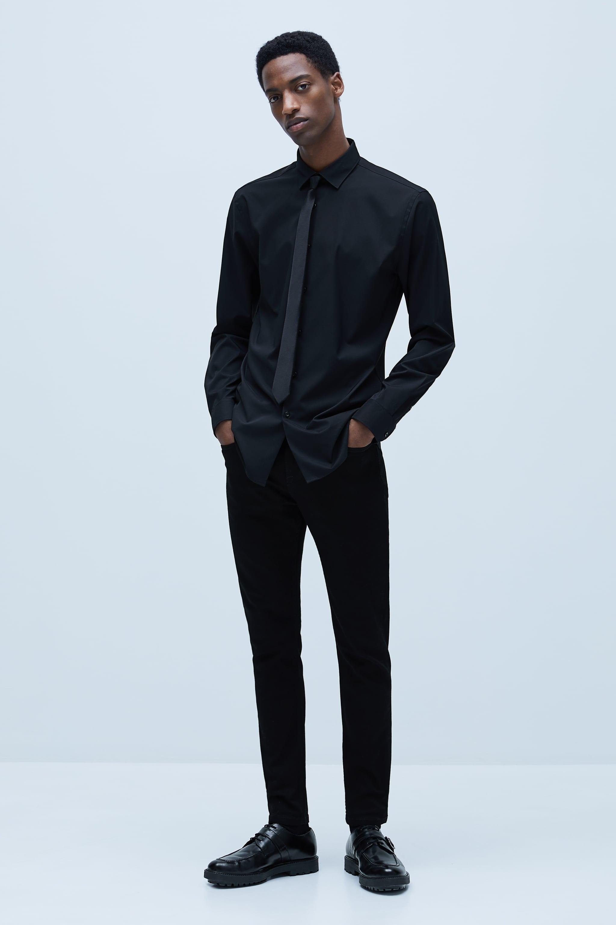 자라 Zara TECHNICAL JEANS,Black