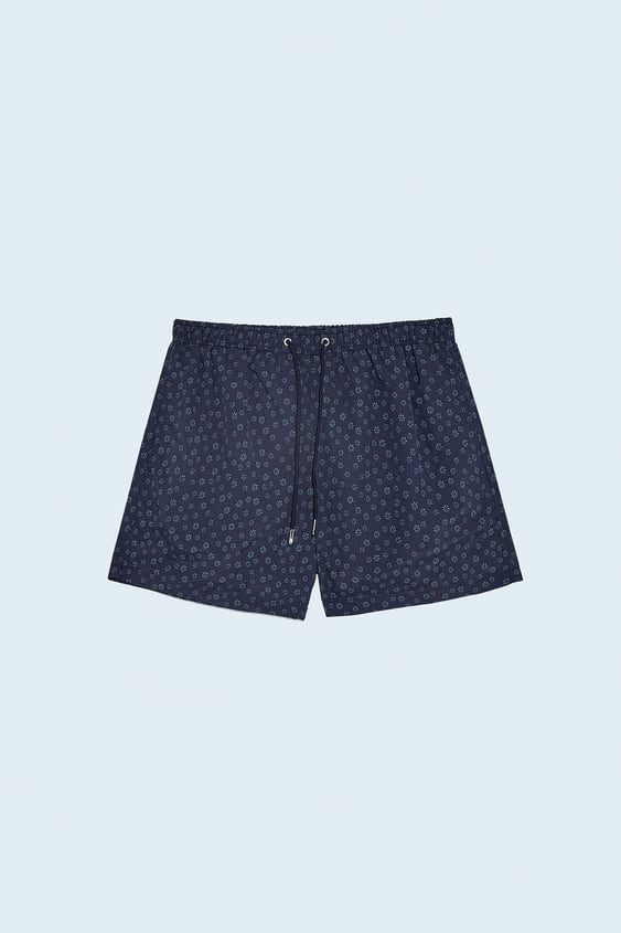 Floral Print Swimming Trunks Zara Oman