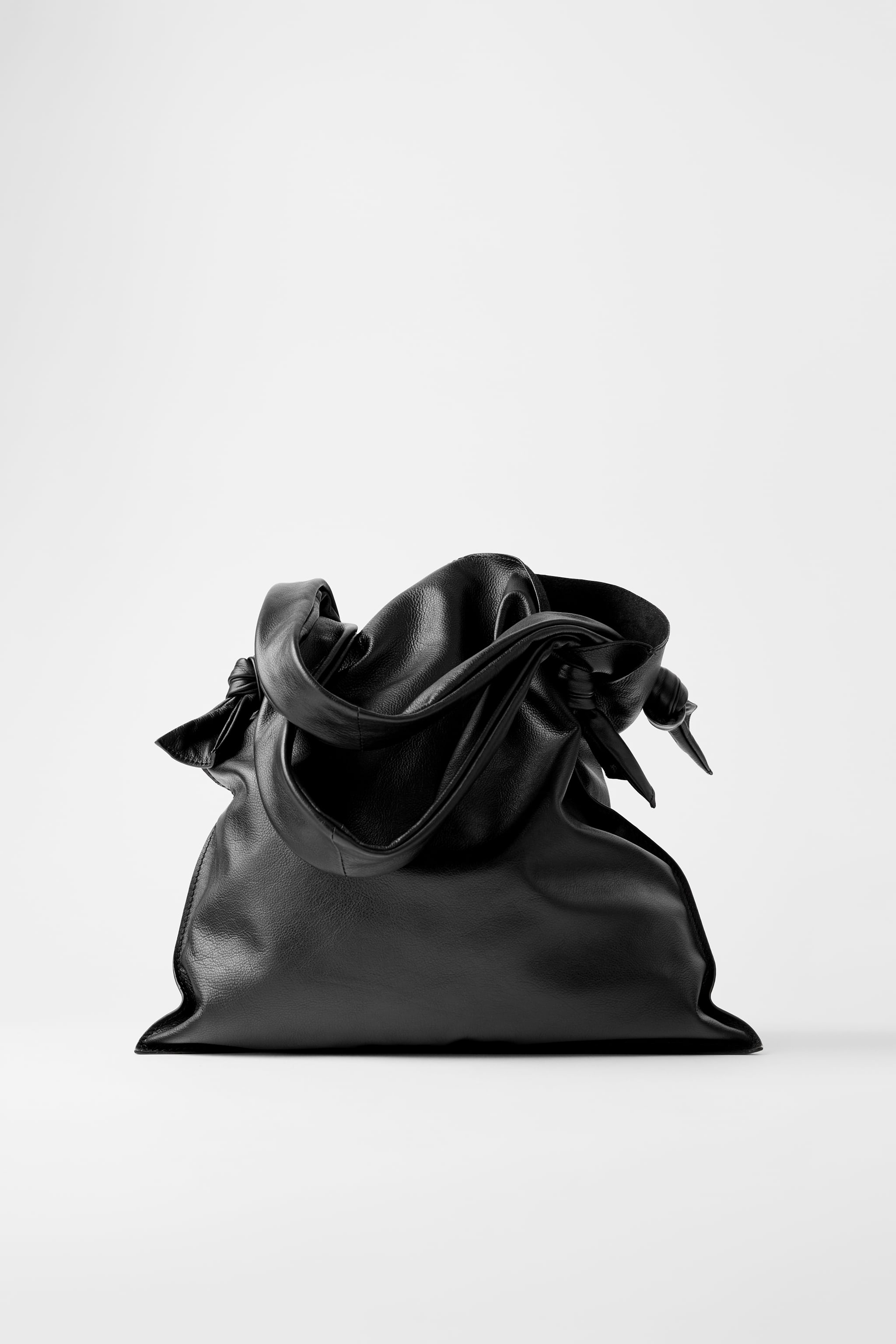 KNOTTED LEATHER SHOPPER