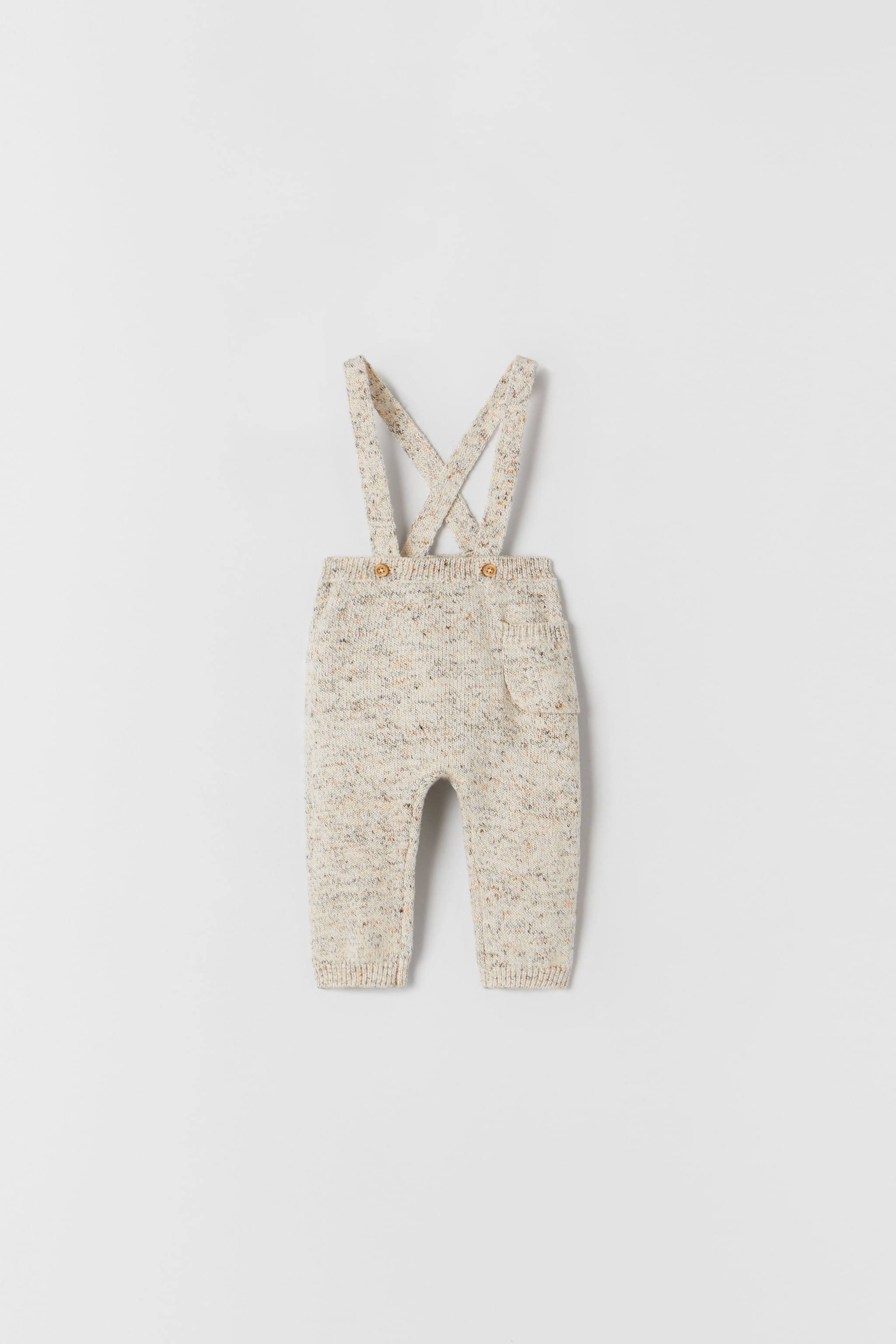 Zara KNIT BLEND PANTS WITH SUSPENDERS
