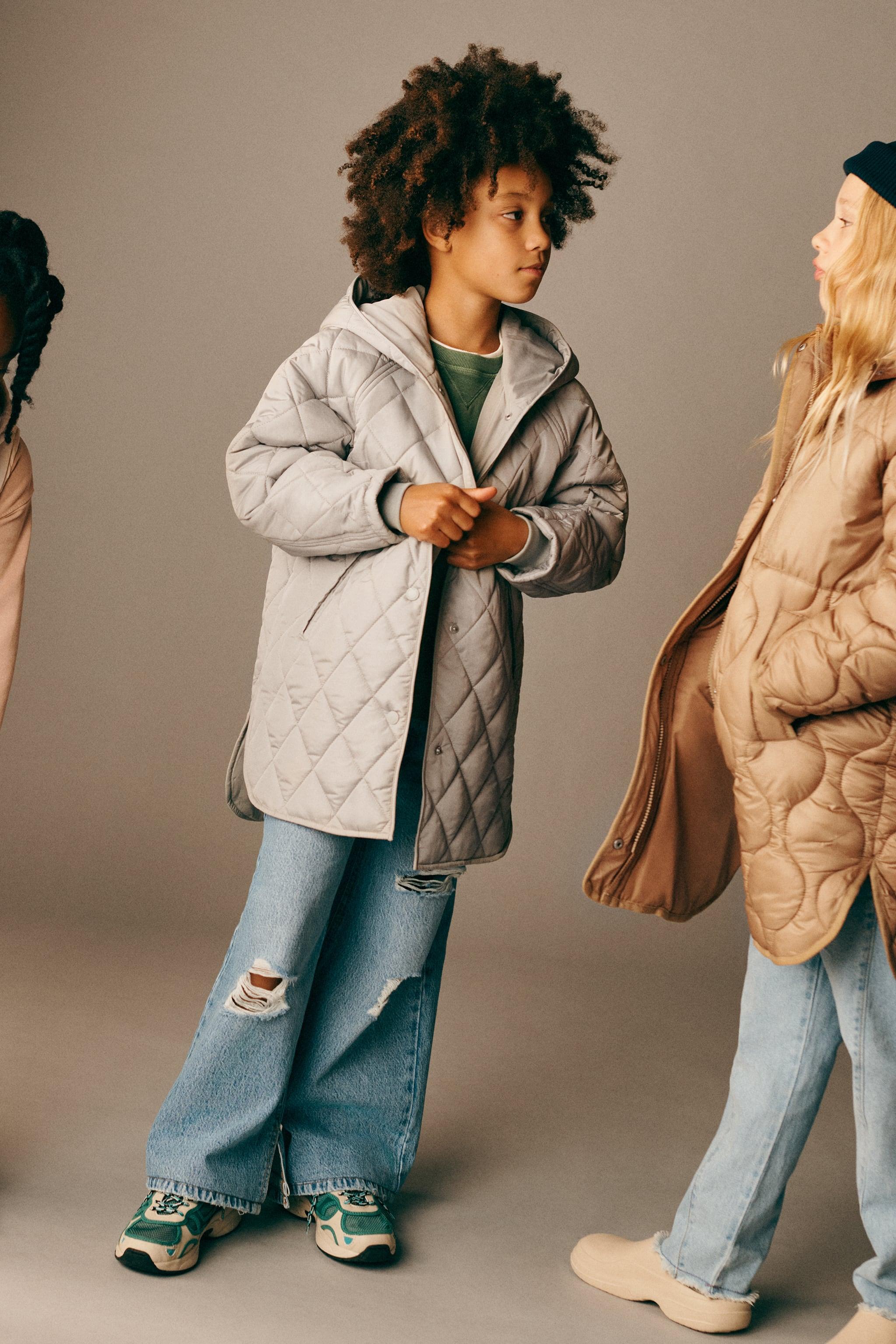 Zara PLAIN PUFFER COAT