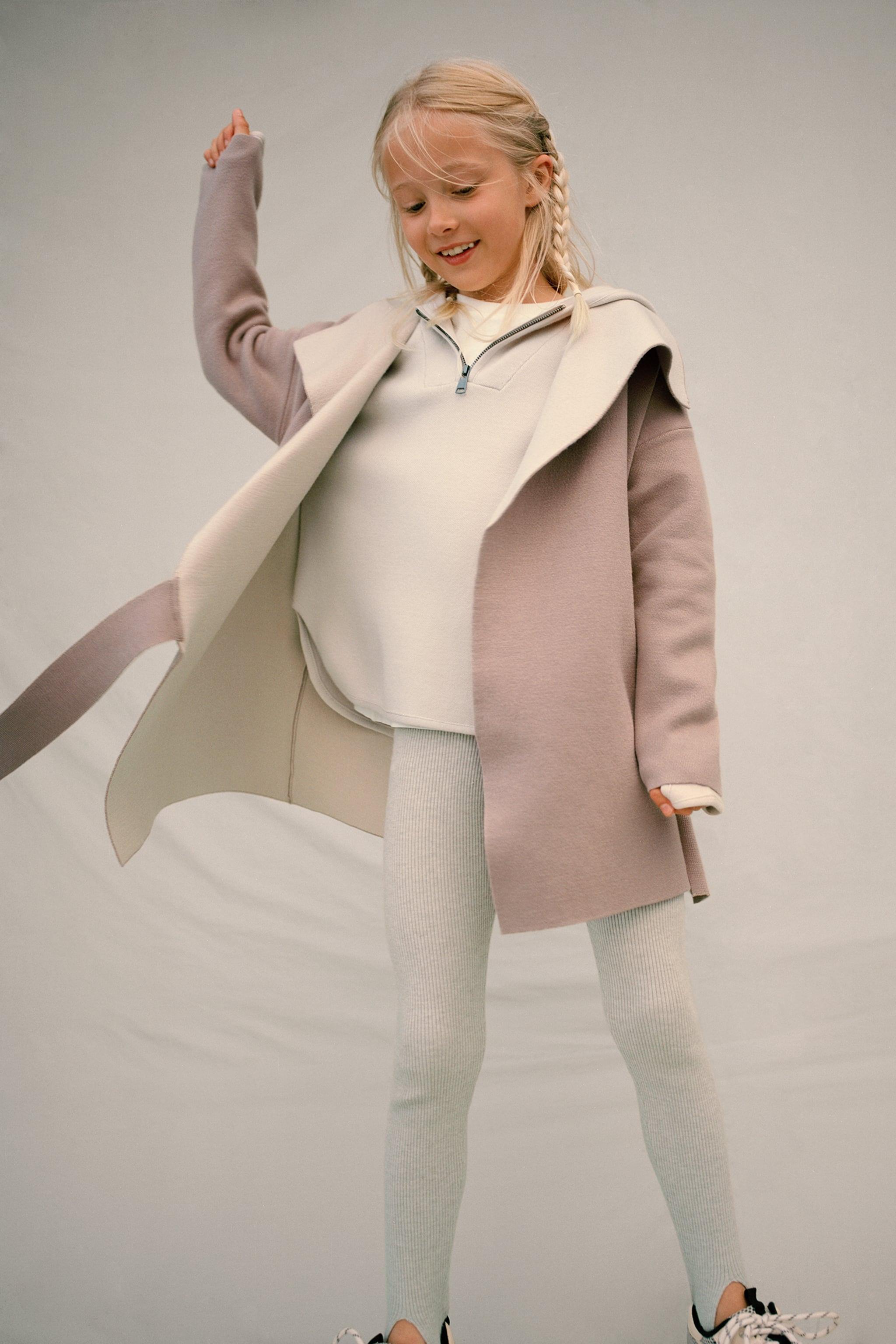 Zara DOUBLE FACED KNIT WRAP COAT