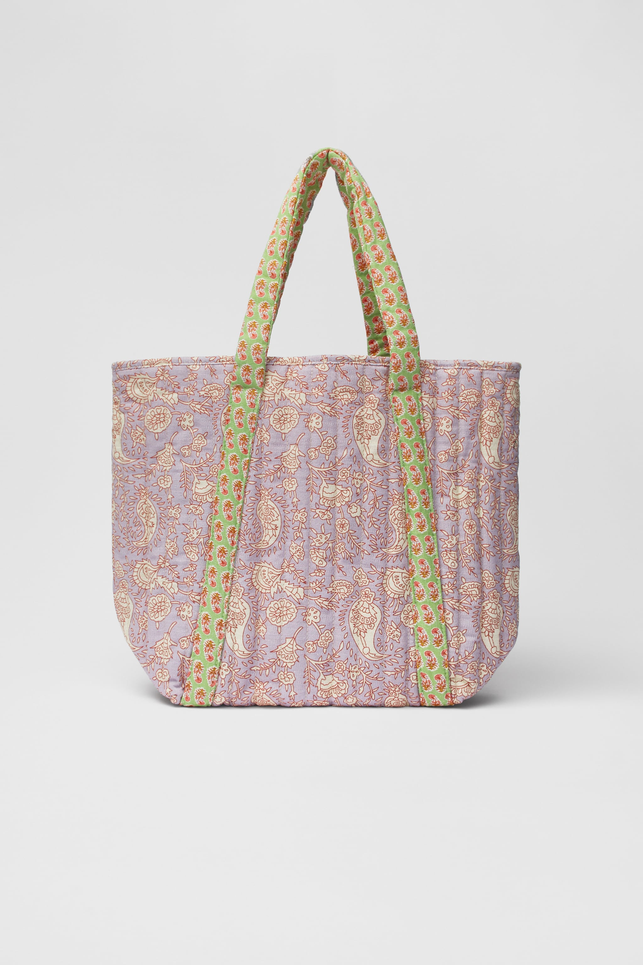 Zara QUILTED PATCHWORK TOTE