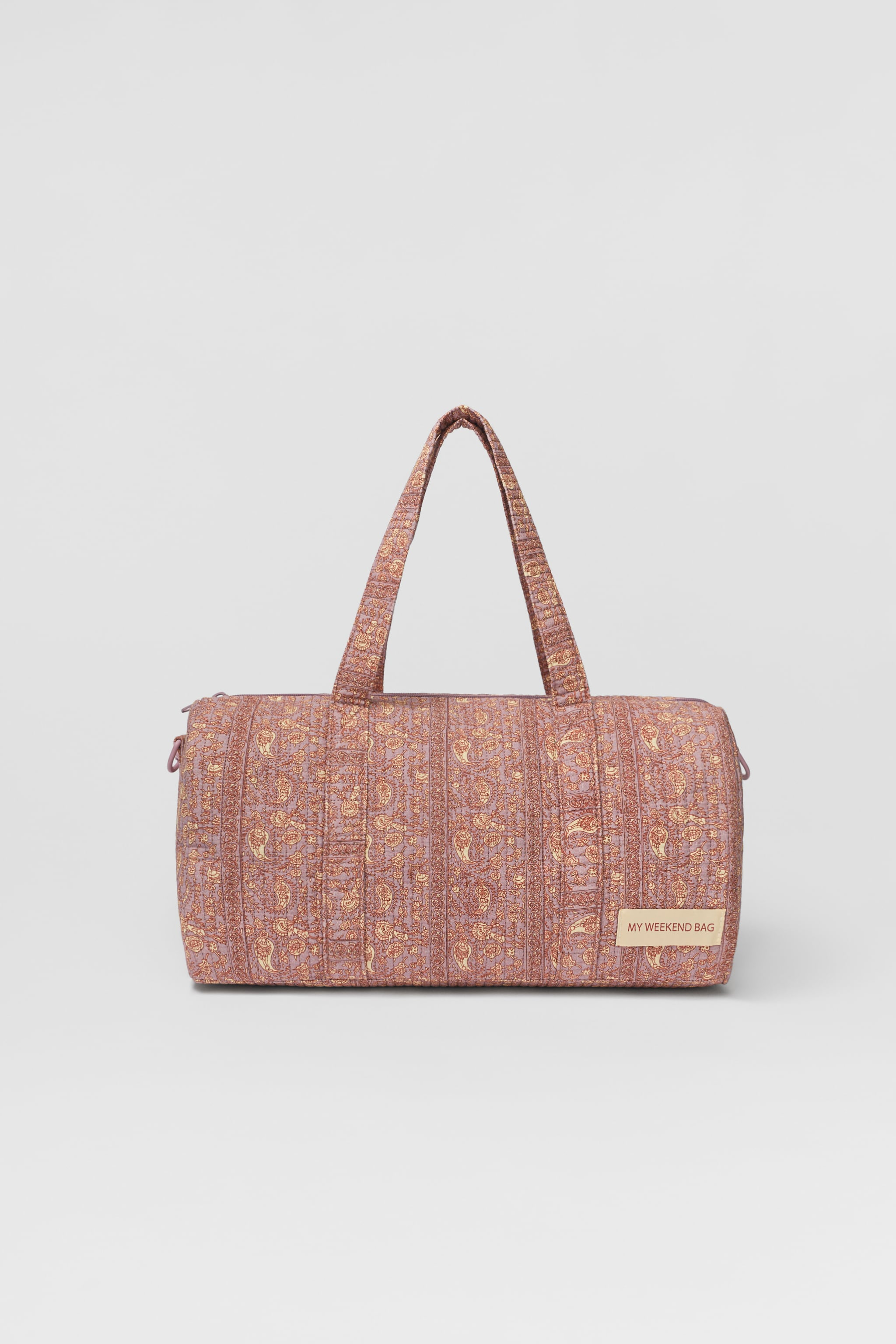 Zara QUILTED PATCHWORK BOWLING BAG