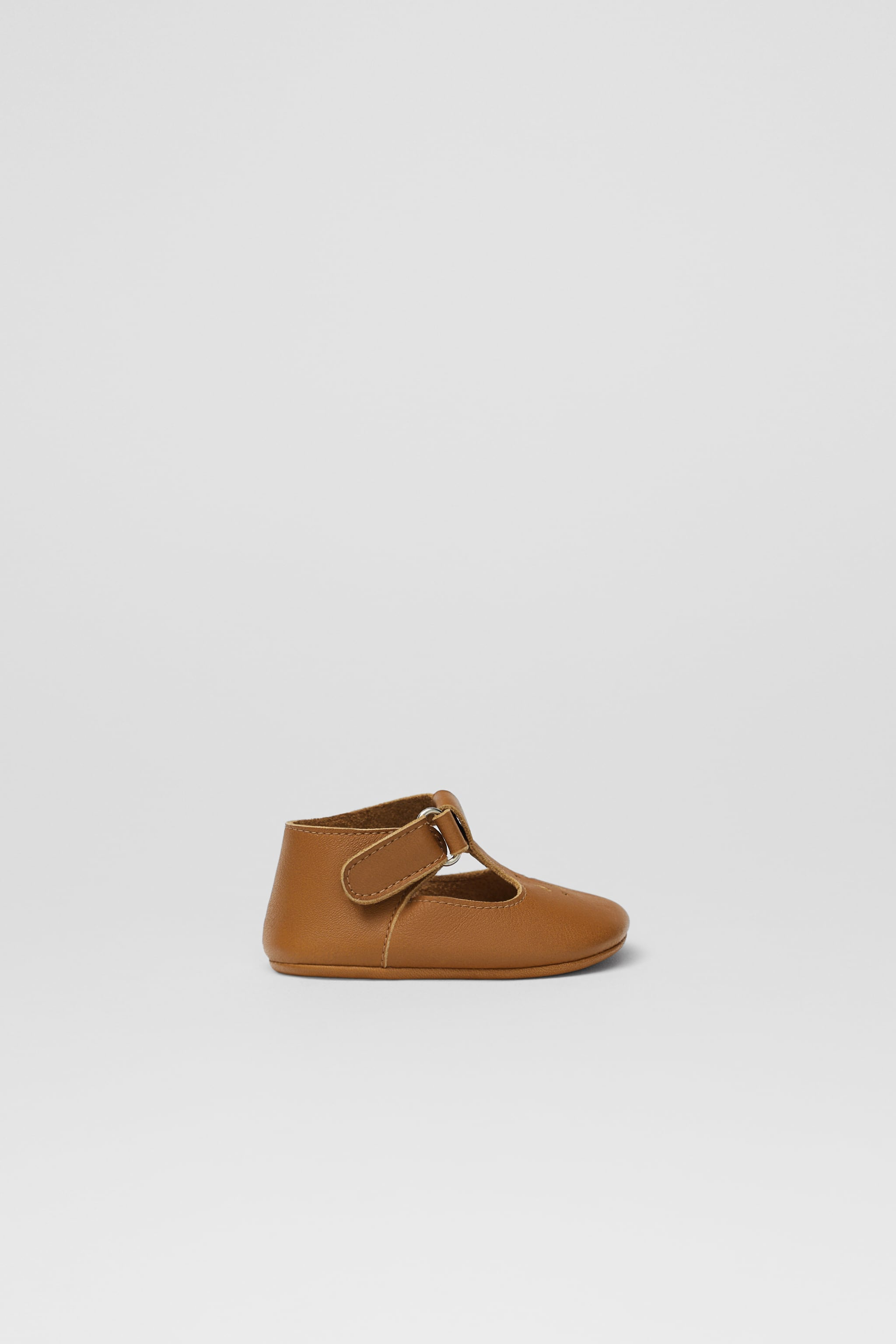 Zara T-STRAP LEATHER BOOTIES