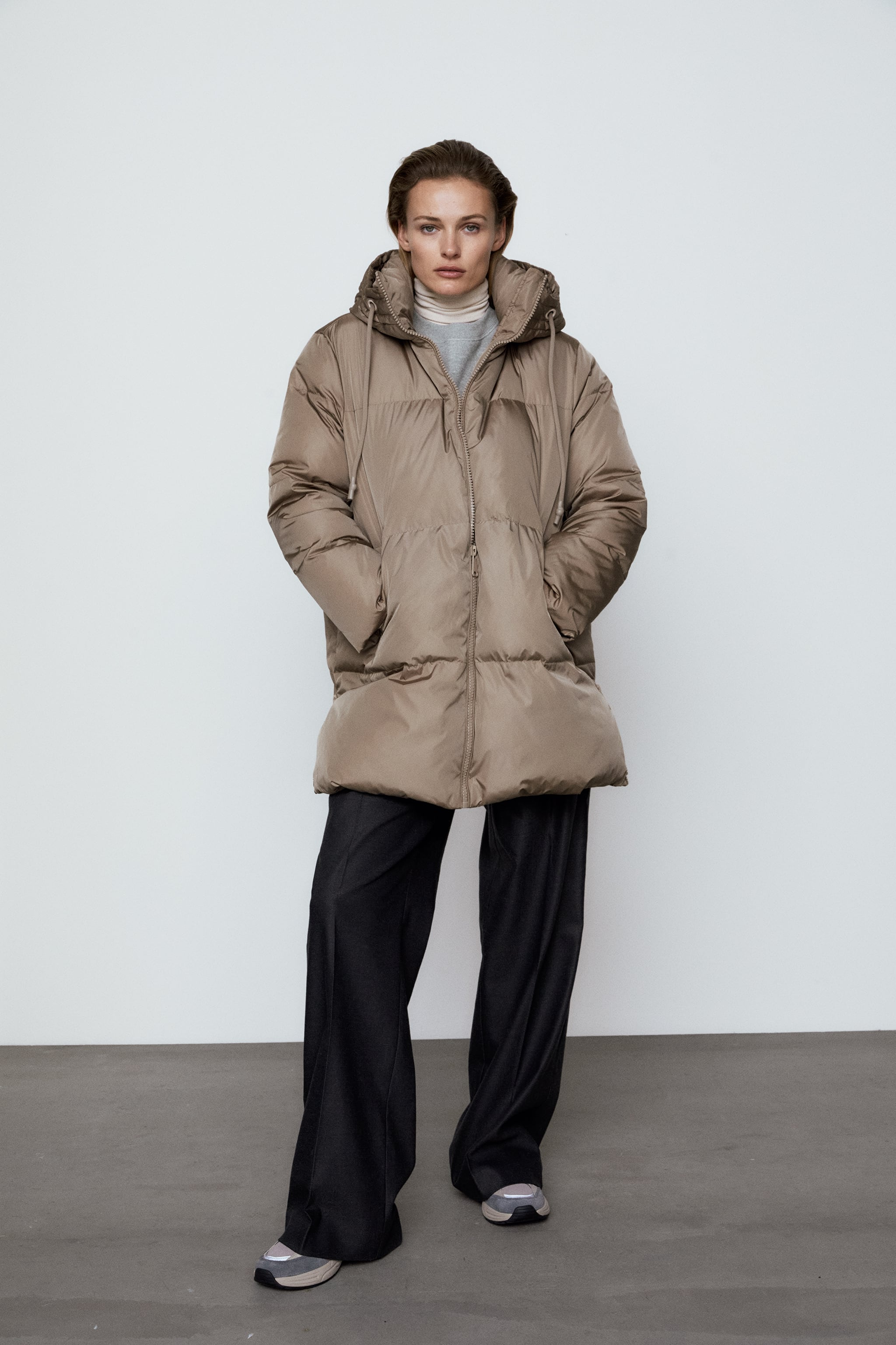 Zara WATER AND WIND PROTECTION OVERSIZED DOWN COAT