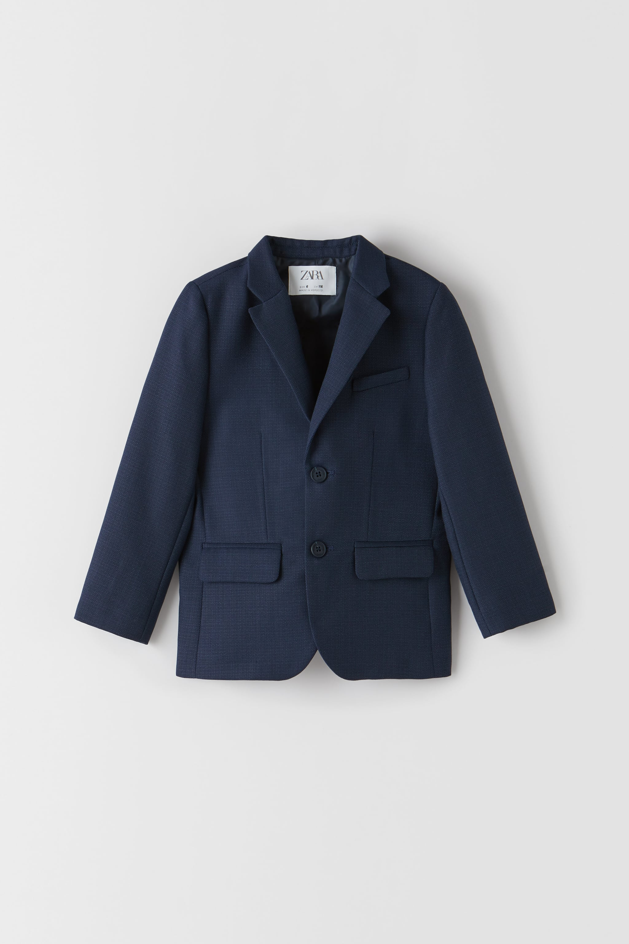 Zara TEXTURED WEAVE SUIT JACKET