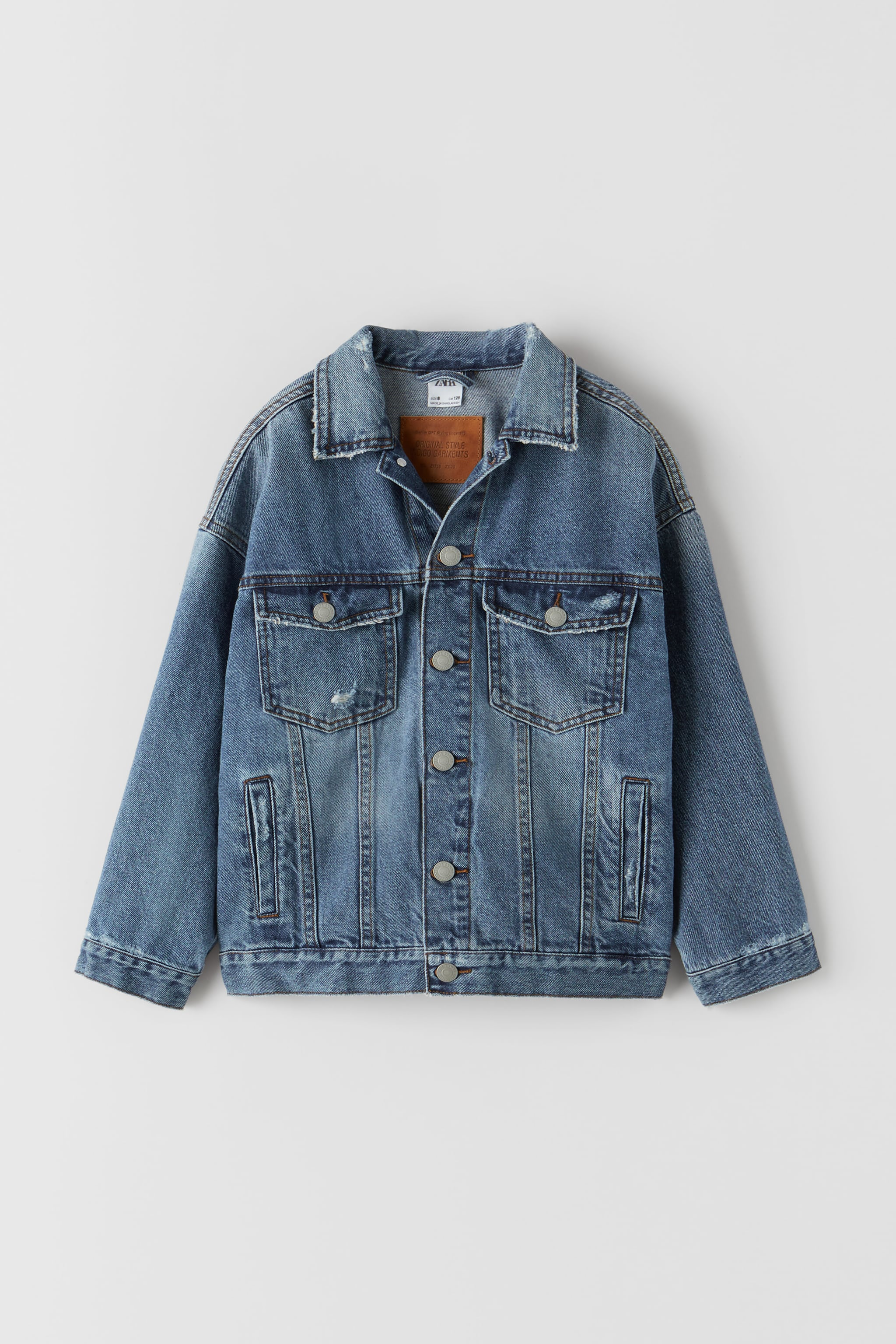 Zara INDIGO BASIC DENIM JACKET