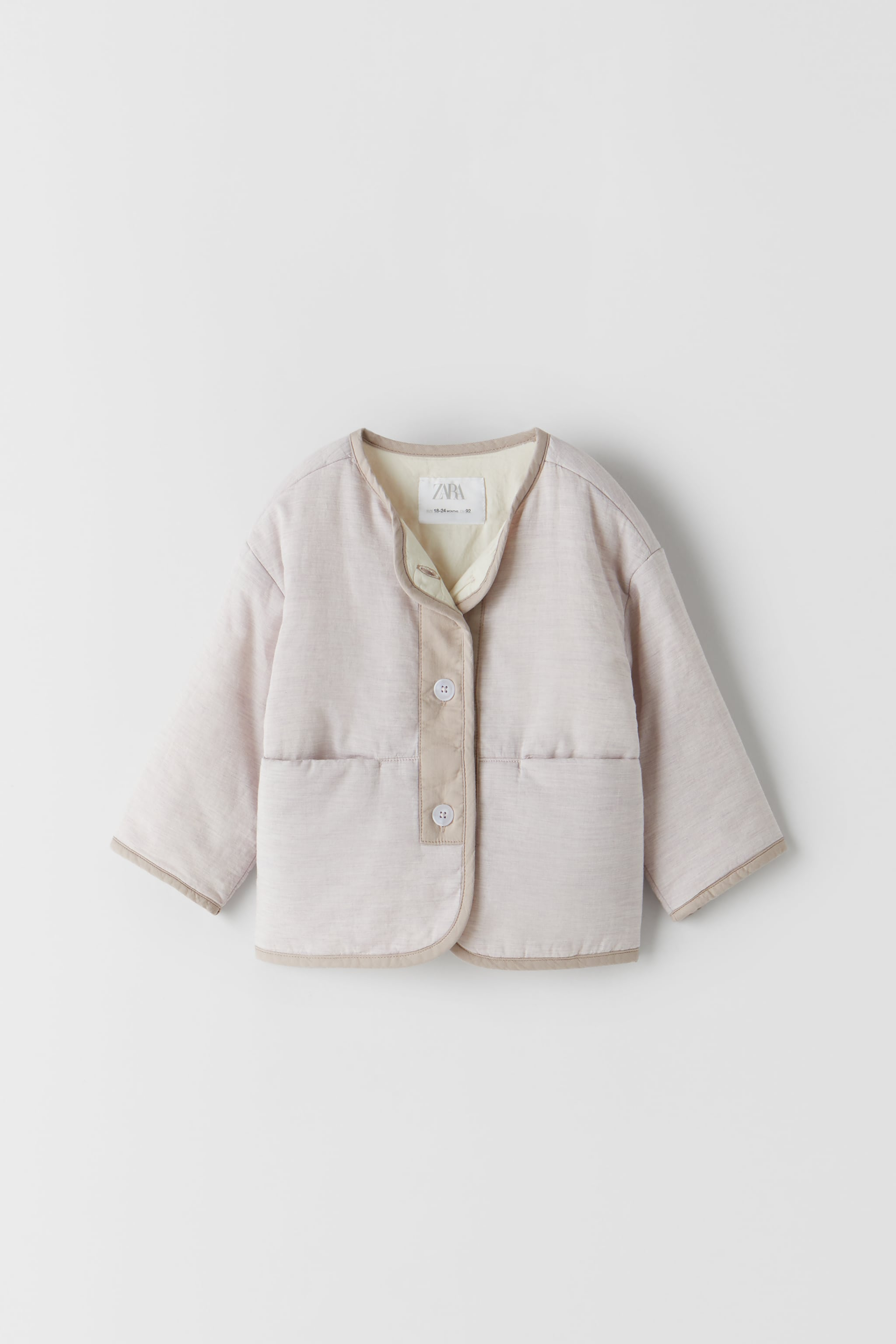 Zara COMBINATION QUILTED JACKET