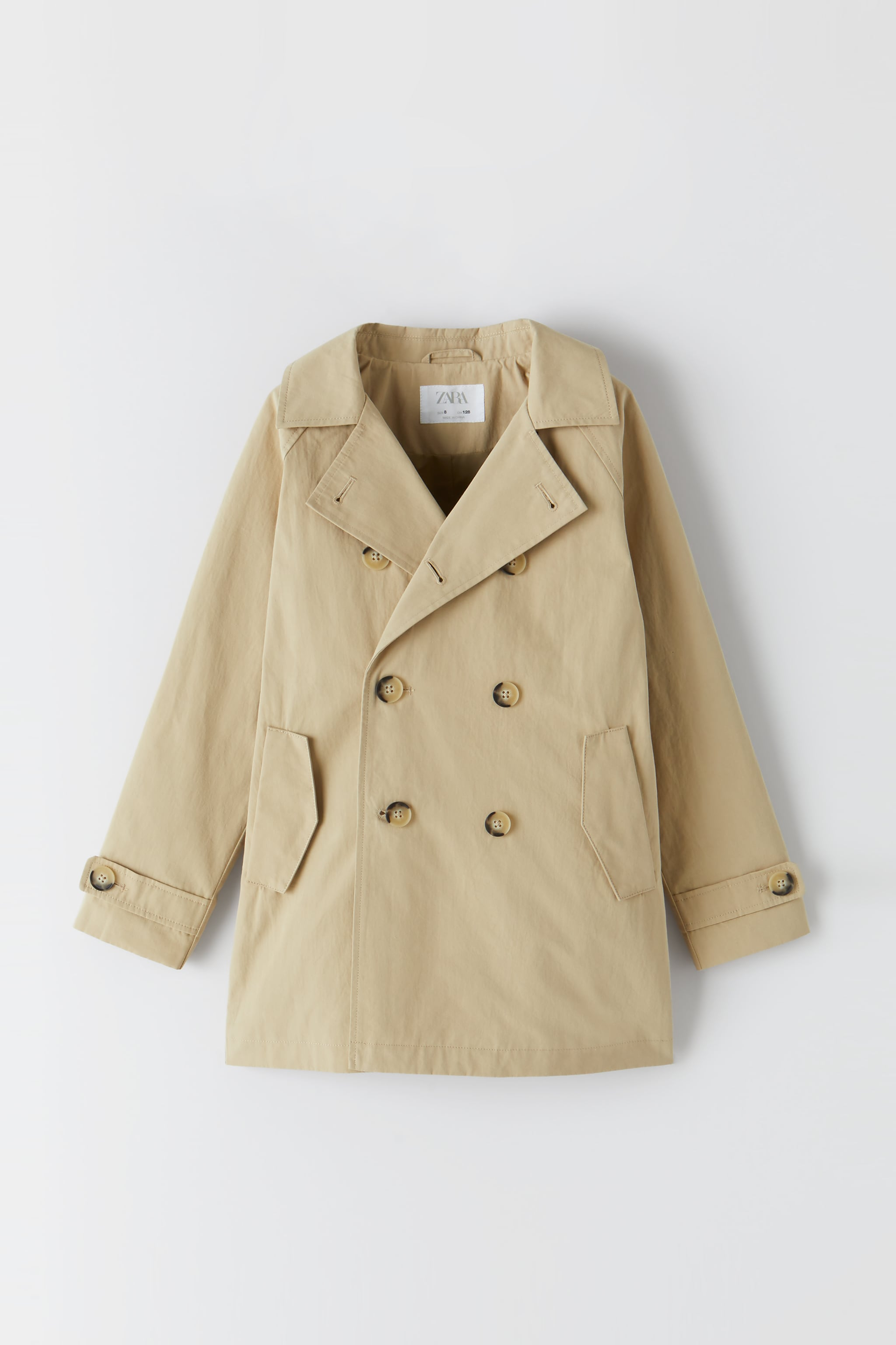 Zara DOUBLE BREASTED BUTTONED TRENCH COAT