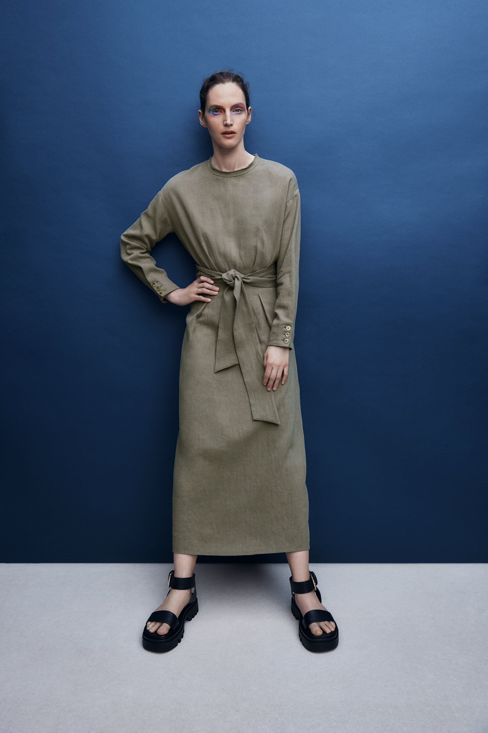 Zara LUG SOLE LEATHER SANDALS